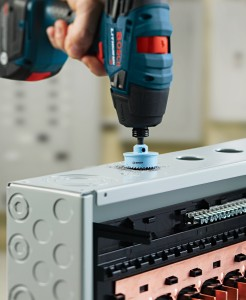 Bosch 12v Impact drill/driver handling knock outs on a breaker panel