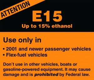 Beware of E15 for Non-road Engines