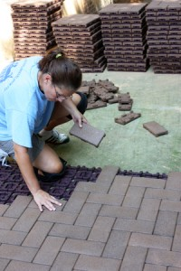 Patio Gridlock with AZEK Composite Pavers