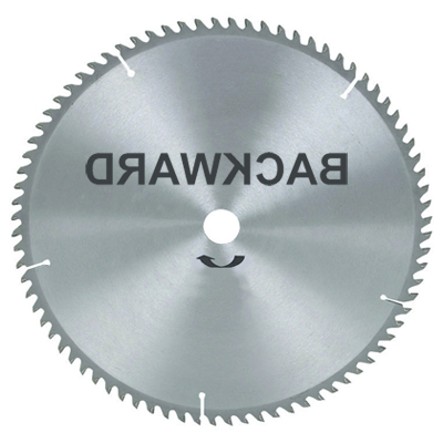 Tool tip backward blades extreme how to blog have you ever used a circular saw blade backwards for most jobs its a terrible idea and very dangerous but for a certain few materials its a smart way greentooth Images