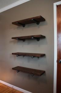 Pipe-bracket Shelves