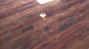 Faux Wood from Stained Concrete