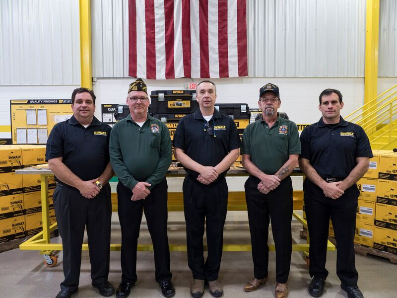 Greenfield VFW accepts donations from DeWalt