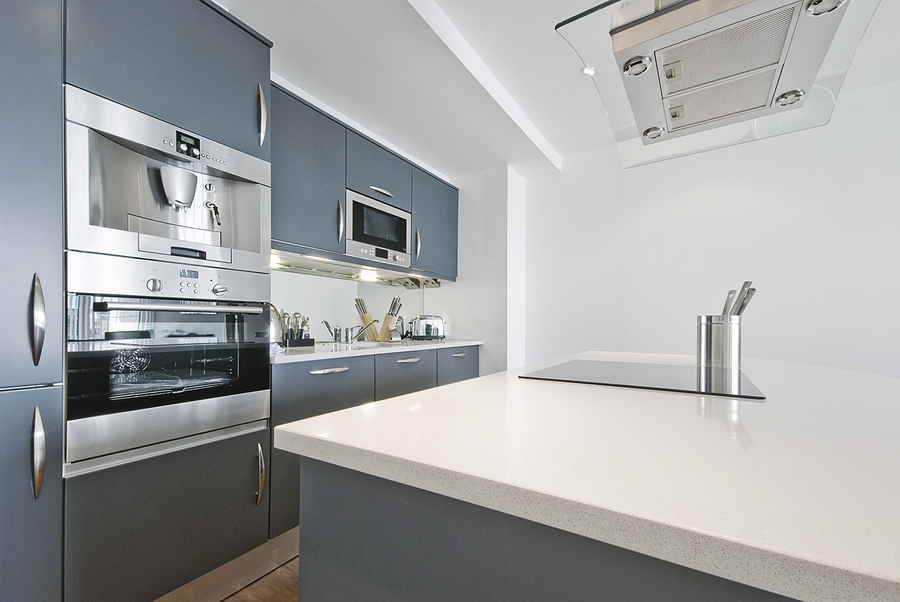 Modern Contemporary Kitchen With Built In Liances Including Coffee Machine