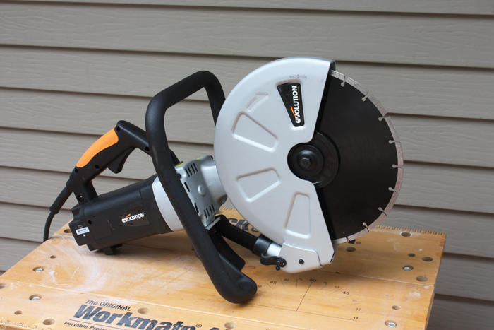 Impressive saws from evolution power tools extreme how to blog when you need to cut concrete stone or brick the new 12 electric disc cutter is an ideal alternative to high maintenance gas power cutters the saw comes greentooth Choice Image