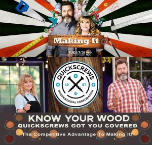 "Quickscrews Partners with NBC's ""Making It"" Reality Show"