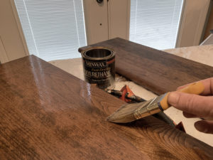 Staining Stair Parts, Cont'd…