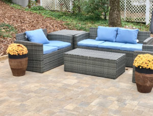 Pavestone Patio & Drystack Fire Pit